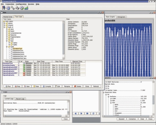 Torrent 7100 WiMAX Test System GUI