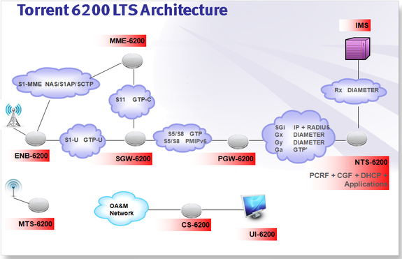 Torrent 6200 eNB Test System Architecture